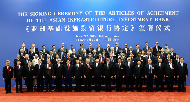 50 Countries Sign the Articles of Agreement for the Asian Infrastructure Investment Bank