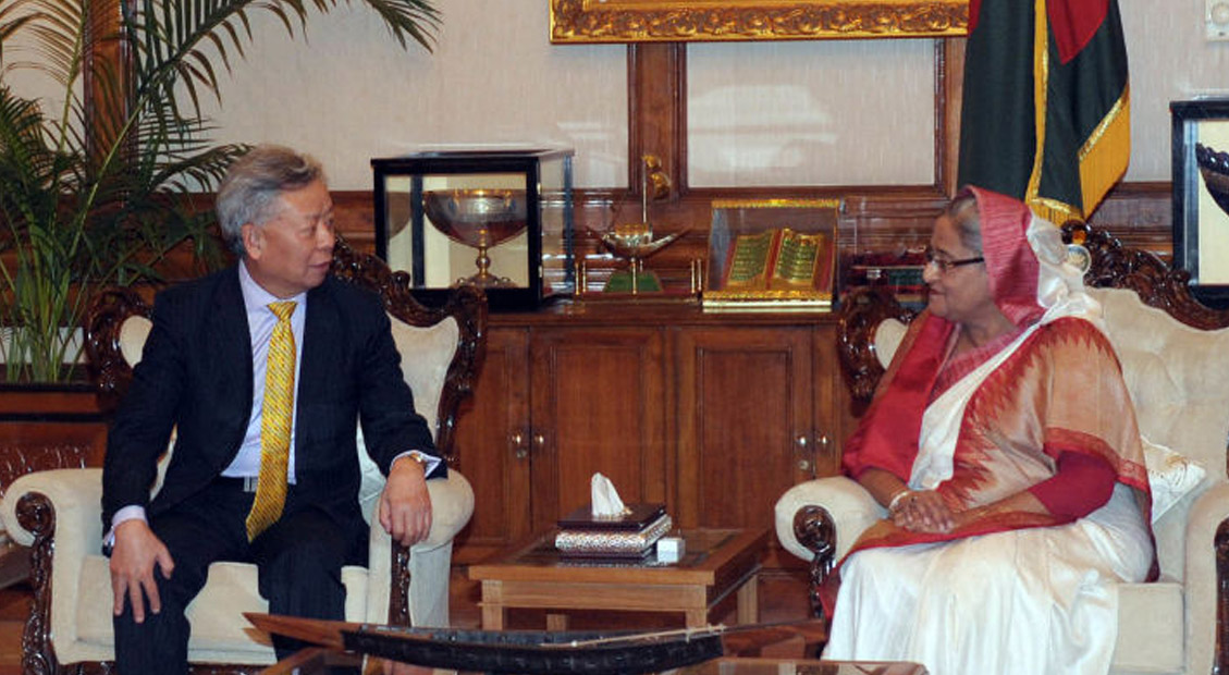 President-designate Jin meets Bangladesh Prime Minister H.E. Sheikh Hasina and other government leaders